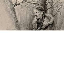 In de Strubben | model tekening van Rene Jansen | Exclusieve kunst online te koop in de webshop van Galerie Wildevuur