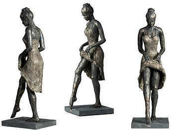Lente | bronzen beeld van een vrouw van Romee Kanis | Exclusieve kunst online te koop in de webshop van Galerie Wildevuur