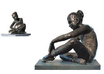 Vasily | bronzen beeld van een ballerina van Romee Kanis | Exclusieve kunst online te koop in de webshop van Galerie Wildevuur