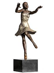 Joy | model sculpture in bronze by Romee Kanis now for sale online! ?Highest quality & service ?Safe payment ?Free shipping
