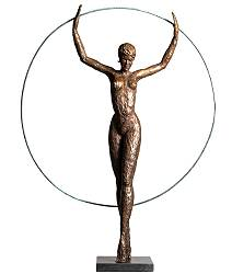 Circle of Life II | sculpture of a dancing woman in bronze by Romee Kanis now for sale online! ?Highest quality & service ?Safe payment ?Free shipping