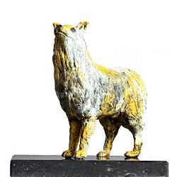 Australian sheperd | sculpture of a dog in bronze by Romee Kanis now for sale online! ✓Highest quality & service ✓Safe payment ✓Free shipping