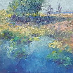 Fen | landscape painting in oil by Ronald Soeliman | Exclusive Dutch Master Art | View and buy the best artworks online now