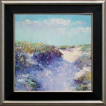 Duin | landschap schilderij in olieverf van Ronald Soeliman koopt u nu online! ✓Hoogste kwaliteit & service ✓Veilig betalen ✓Gratis verzending