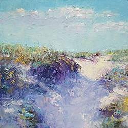 Dune | landscape painting in oil by Ronald Soeliman | Exclusive Dutch Master Art | View and buy the best artworks online now