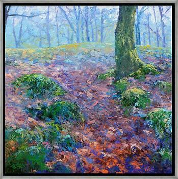 Boslandschap Schipborg | landschap schilderij in olieverf van Ronald Soeliman | Exclusieve kunst online te koop in de webshop van Galerie Wildevuur