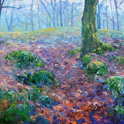 Forest landscape | landscape paintings in oil by Ronald Soeliman | Exclusive Dutch Master Art | View and buy the best artworks online now