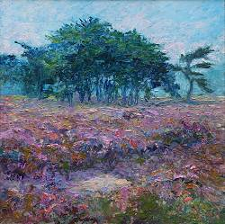 Moorland | landscape paintings in oil by Ronald Soeliman | Exclusive Dutch Master Art | View and buy the best artworks online now