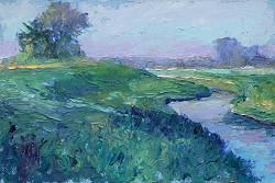 Langs strand en duin II | schilderij van een landschap in olieverf van Ronald Soeliman | Exclusieve kunst online te koop bij Galerie Wildevuur