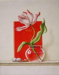 Een nieuwe lente | stilleven schilderij in olieverf van Ruud Verkerk | Exclusieve kunst online te koop in de webshop van Galerie Wildevuur