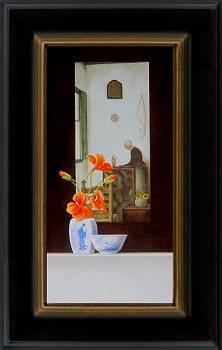 Ode aan Jan Mankes, Moeder in de kamer | stilleven schilderij in olieverf van Ruud Verkerk | Exclusieve kunst online te koop bij Galerie Wildevuur