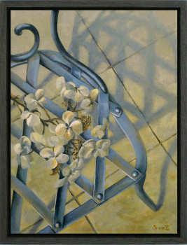 Lichtvanger | schilderij van een interieur in olieverf van Sara van Epenhuysen koopt u nu online! ✓Veilig betalen ✓Gratis verzending