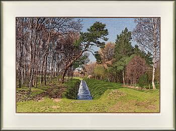 Landgoed Sol | landschap in houtsnede van Siemen Dijkstra koopt u nu online! ✓Hoogste kwaliteit & service ✓Veilig betalen ✓Gratis verzending