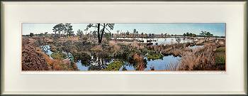Holtveen | landscape painting in woodcut by Siemen Dijkstra now for sale online!Highest quality & serviceSafe paymentFree shipping