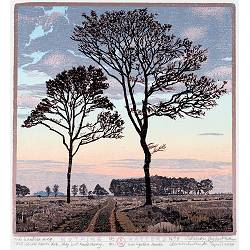 Nothings Matters | landscape painting in woodcut by Siemen Dijkstra now for sale online!Highest quality & serviceSafe paymentFree shipping