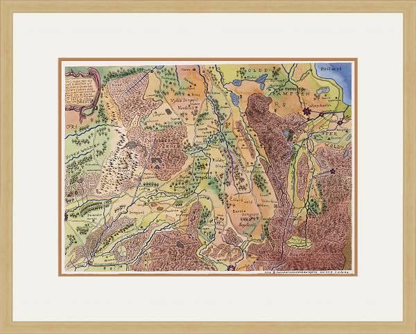 Oude kaart van Drenthe