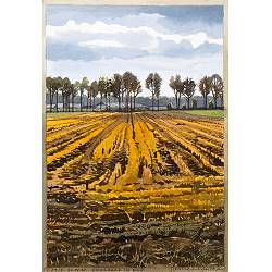 Lost | landscape in colour woodcut by Siemen Dijkstra | Exclusive Dutch Master Art | Now for sale online