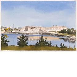 Jonkerswijk, nabij Fochteloërveen | landschap in aquarel van Siemen Dijkstra koopt u nu online! ✓Hoogste kwaliteit ✓Veilig betalen ✓Gratis verzending