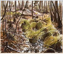 Willems grove | landscape in watercolor by Siemen Dijkstra now for sale online!Highest quality & serviceSafe paymentFree shipping