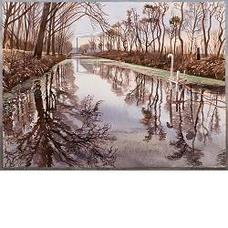 VAM-channel | landscape in watercolor by Siemen Dijkstra now for sale online!Highest quality & serviceSafe paymentFree shipping