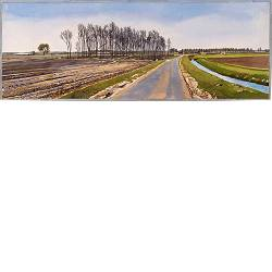 Valtherdijk | landscape in watercolor by Siemen Dijkstra now for sale online! ✓Highest quality & service ✓Safe payment ✓Free shipping