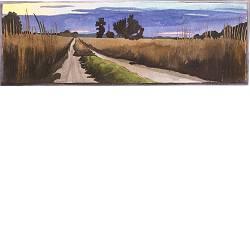 Lange drift, Doldersummerveld | landschap in aquarel van Siemen Dijkstra koopt u nu online! ✓Hoogste kwaliteit ✓Veilig betalen ✓Gratis verzending