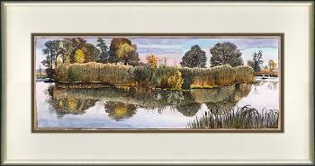Smitsveen | landscape in watercolor by Siemen Dijkstra now for sale online! ✓Highest quality & service ✓Safe payment ✓Free shipping
