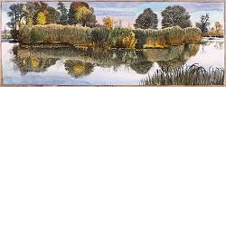 Smitsveen | landschap in aquarel van Siemen Dijkstra koopt u nu online! ✓Hoogste kwaliteit & service ✓Veilig betalen ✓Gratis verzending