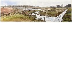 Geeserstroom | landschap in aquarel van Siemen Dijkstra koopt u nu online!Hoogste kwaliteit & serviceVeilig betalenGratis verzending