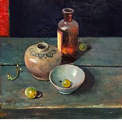 Maison des Soeurs in Mei | landschap schilderij in olieverf van Simeon Nijenhuis koopt u nu online! ✓Veilig betalen ✓Gratis verzending