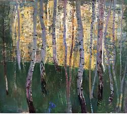 Berkenbos | landschap schilderij in olieverf van Simeon Nijenhuis koopt u nu online!Hoogste kwaliteit & serviceVeilig betalenGratis verzending
