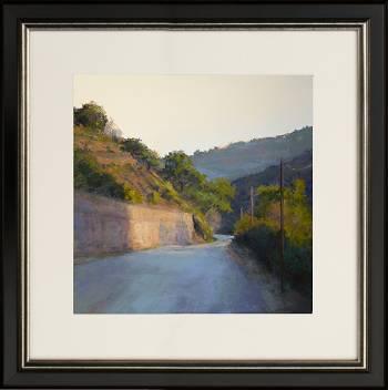 Bij Limoux | schilderij van een landschap in pastel van Sophie Amauger koopt u nu online! ✓Hoogste kwaliteit ✓Veilig betalen ✓Gratis verzending