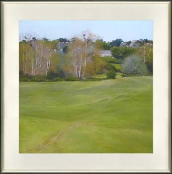 Voorjaar in Normandie I | schilderij van een landschap in pastel van Sophie Amauger | Exclusieve kunst online te koop bij Galerie Wildevuur