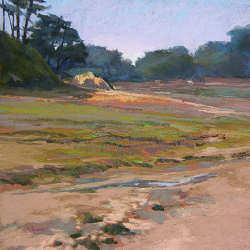 Nabij Cancale | schilderij van een landschap in pastel van Sophie Amauger | Exclusieve kunst online te koop in de webshop van Galerie Wildevuur