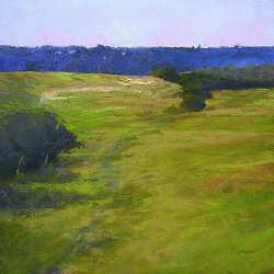 Hoogvlakte bij Bec d'Andaine | schilderij van een landschap in pastel van Sophie Amauger | Exclusieve kunst online te koop bij Galerie Wildevuur