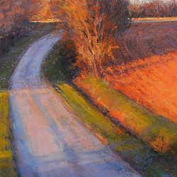 Herfst | schilderij van een landschap in pastel van Sophie Amauger | Exclusieve kunst online te koop in de webshop van Galerie Wildevuur