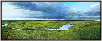 Waar Gedachten stromen | landschap schilderij van Wout Wachtmeester koopt u nu online!Hoogste kwaliteitVeilig betalenGratis verzending